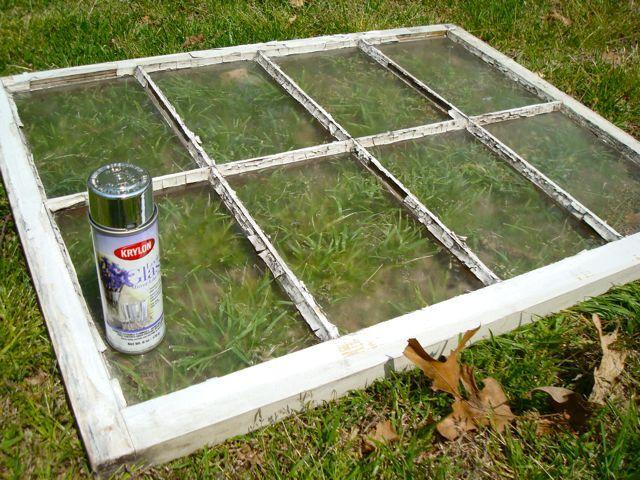 Turn any piece of glass into a mirror with krylon glass spray paint
