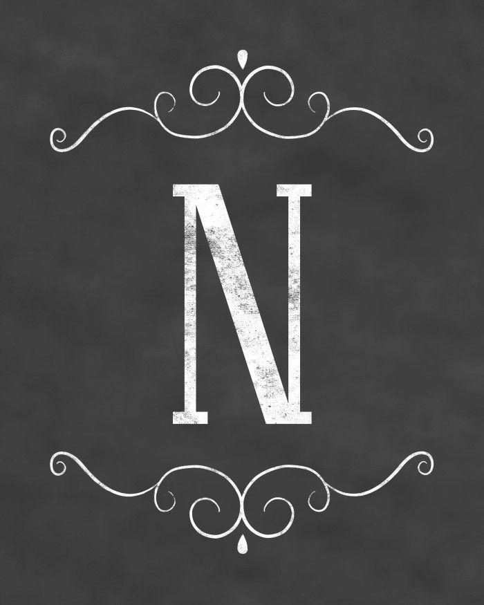 Free Initial Sign Printables - Chalkboard Design - Digi-Mama's - Free Printables