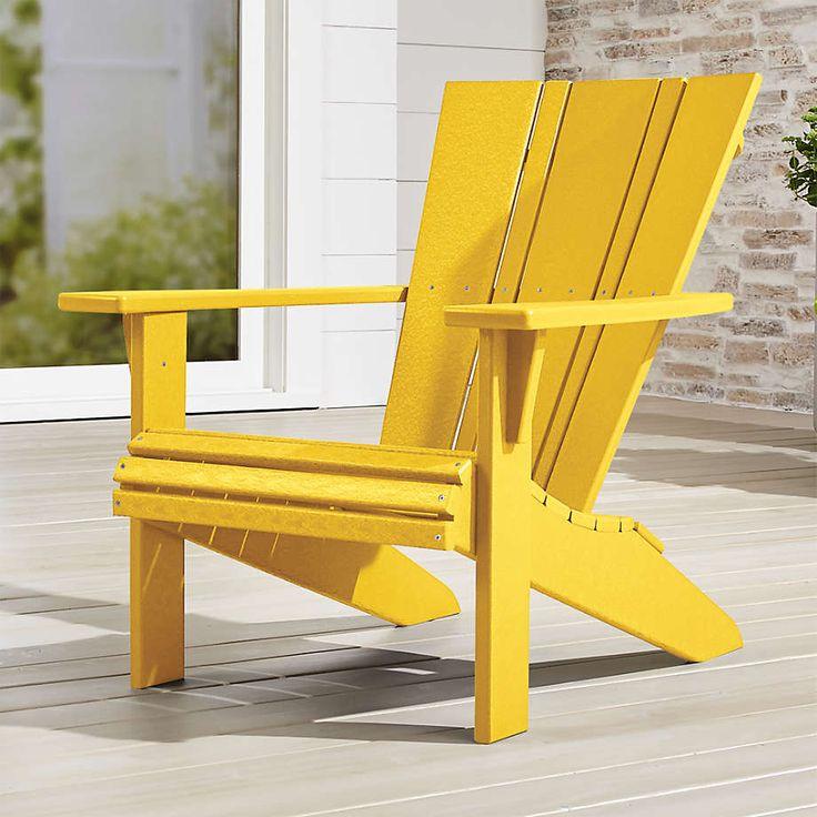 Vista II Lemon Adirondack Chair + Reviews Crate and