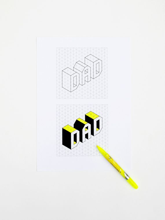 269 best Fatheru0027s Day Ideas for Kids images on Pinterest - free isometric paper