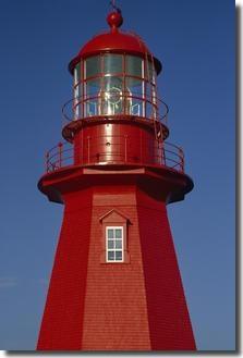 La Martre Lighthouse, Gaspé Peninsula, Quebec.