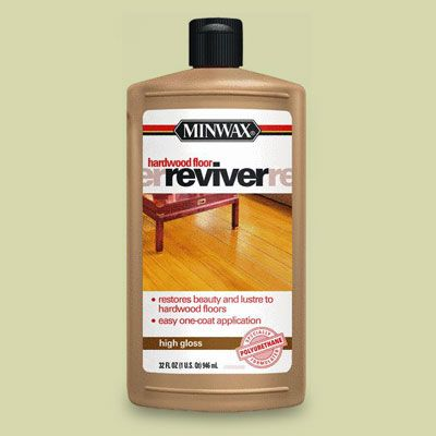Revive wood floors without any sanding....Clean and mop on a fresh top coat that fills cracks and restores shine.