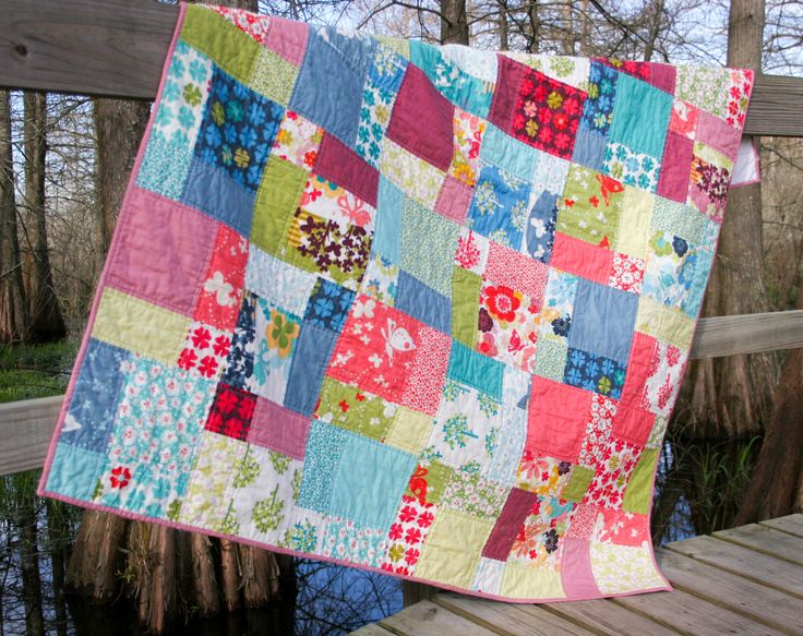 Easy Quilt Patterns Using Layer Cakes : A Finished Project - Easy Bake Quilt --> just a disappearing nine patch with layer cakes Quilt ...