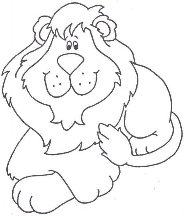Dibujo para colorear: León.