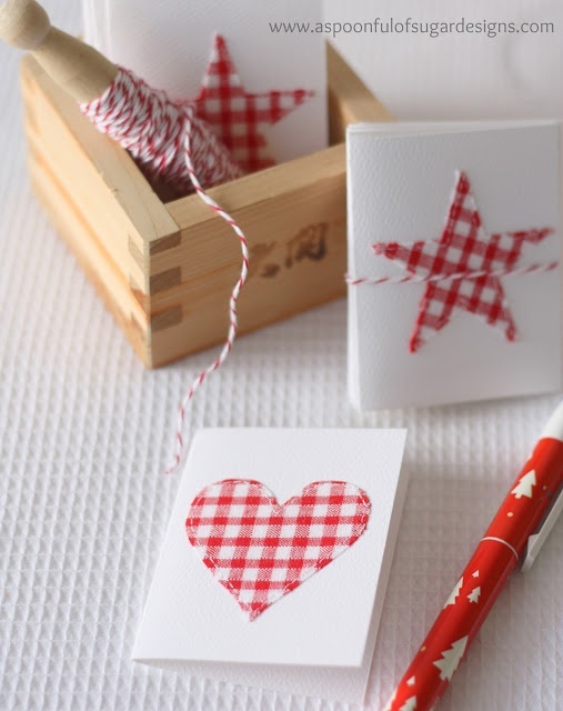 Stitched Christmas Cards - DIY