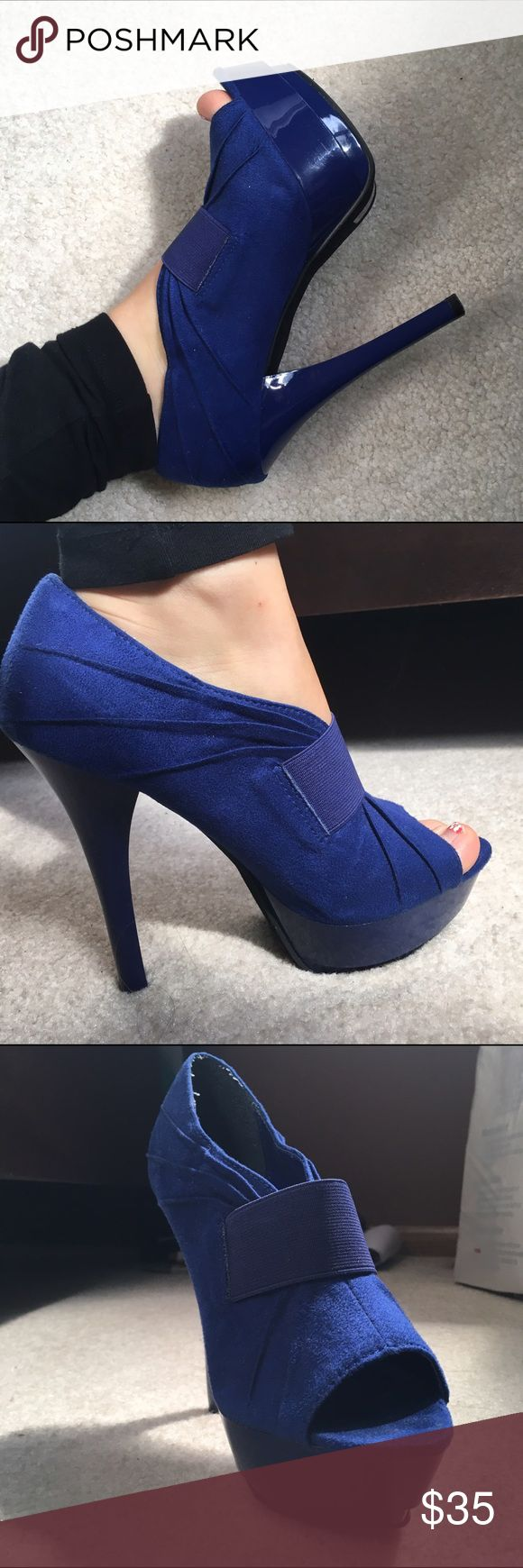 Michael Antonio royal Blue High Heels (stilettos) Royal blue high heeled platforms . Size 6. Beautiful color. Designer: Michael Antonio. Michael Antonio Shoes Platforms