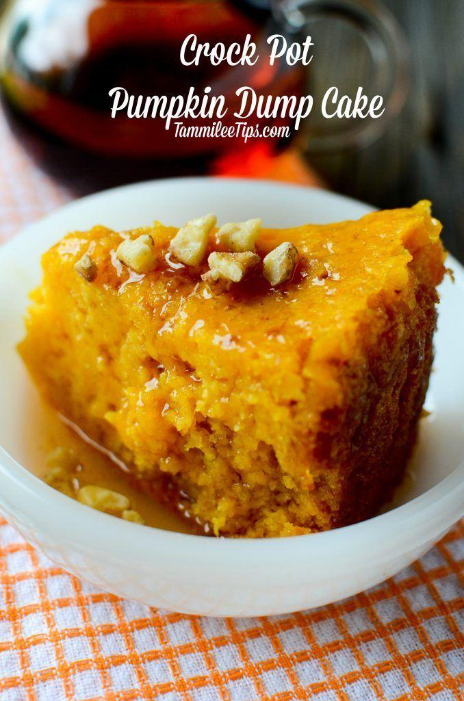 Topftopf-Kürbis-Dump-Kuchen-Rezept   – Yummy Desserts