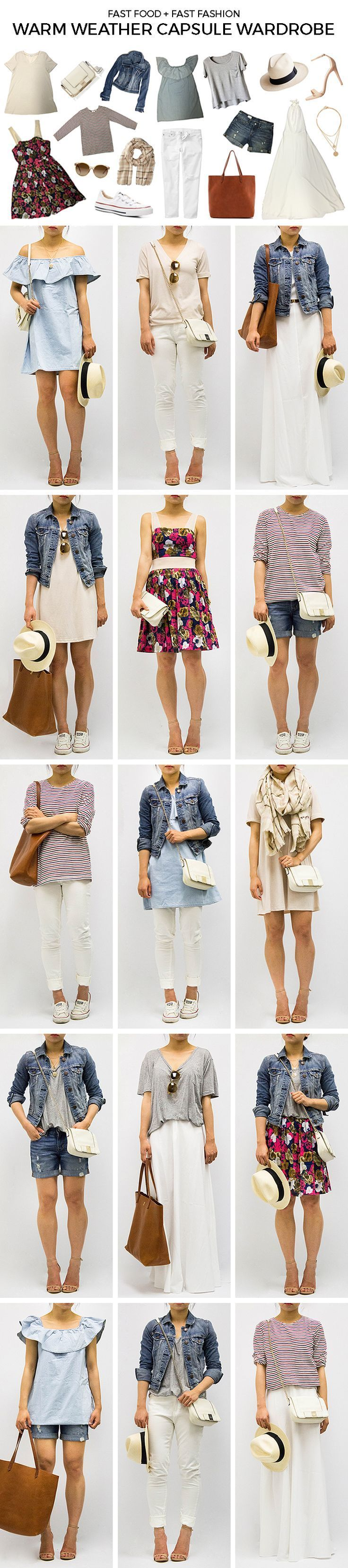 The Ultimate Capsule Wardrobe: Casual Infusion I Here's my travel wardrobe for 10 days in Japan: http://www.sewinlove.com.au/2013/03/28/10-days-japan-travel-capsule-wardrobe-%E6%97%A5%E6%9C%AC%E6%97%8