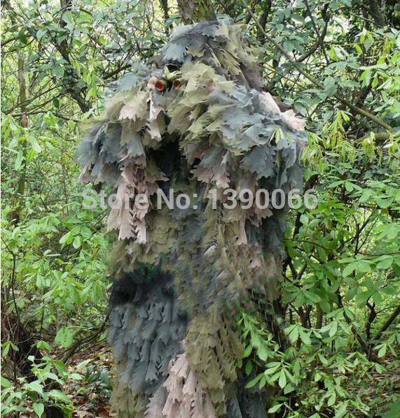 Снайпер Тактический камуфляж 3D Джунгли Ghillie Костюмы Охота одежда камуфляж костюм охота оборудование для охоты лук