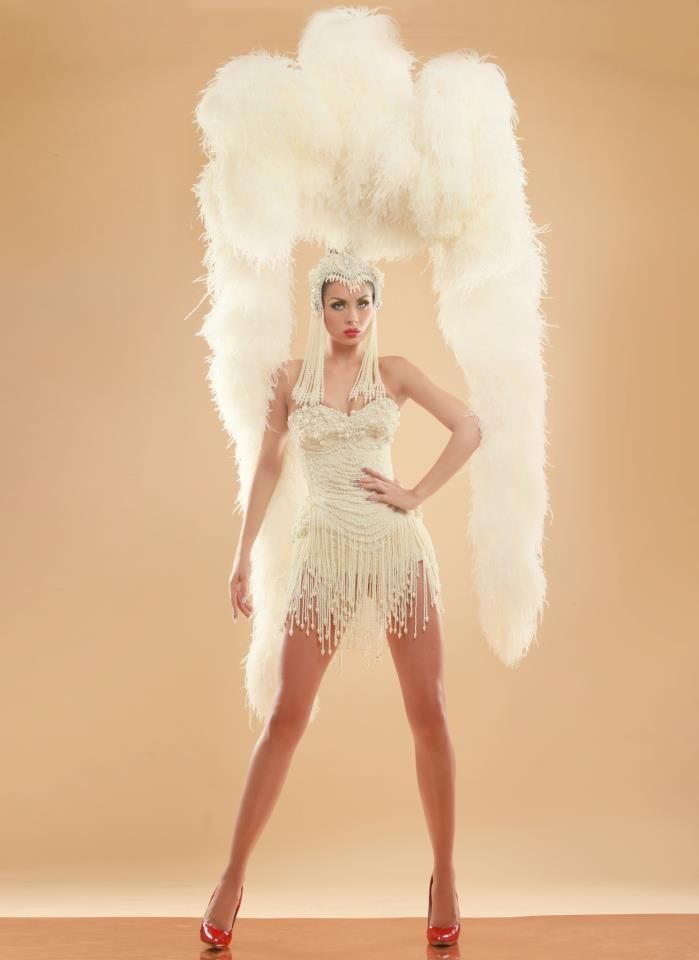 Fabulous pearl showgirl costume - the feathers...