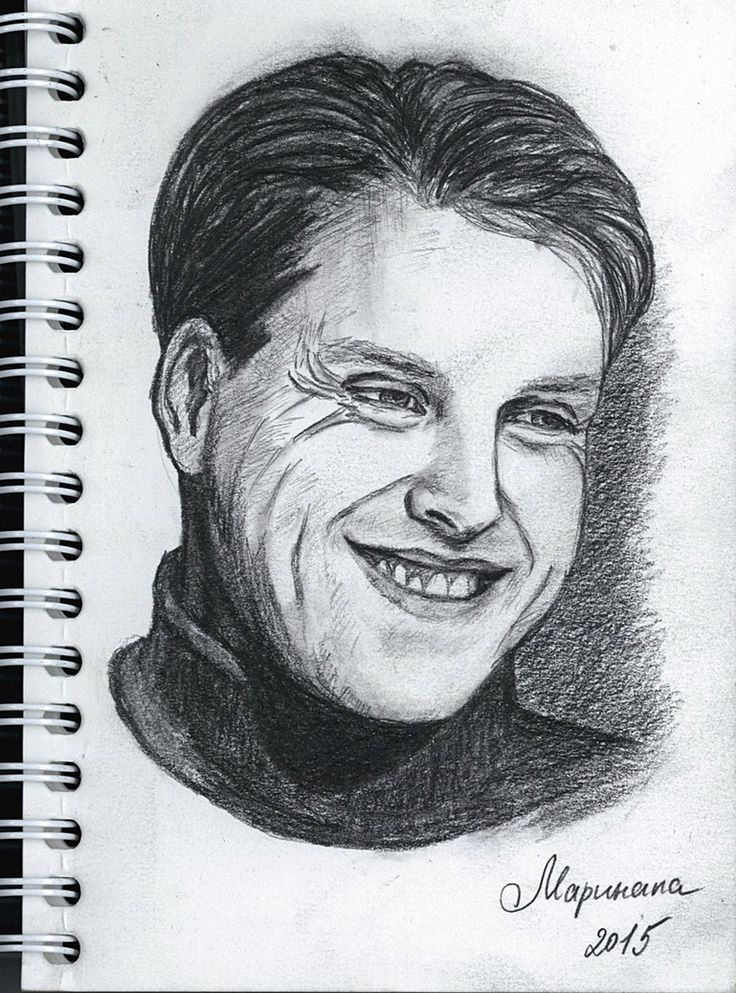 'Keep smiling' by me. I love men (humans) with laugh lines and smiling eyes. That's one of the reasons why I like to draw Ivan Ozhogin.