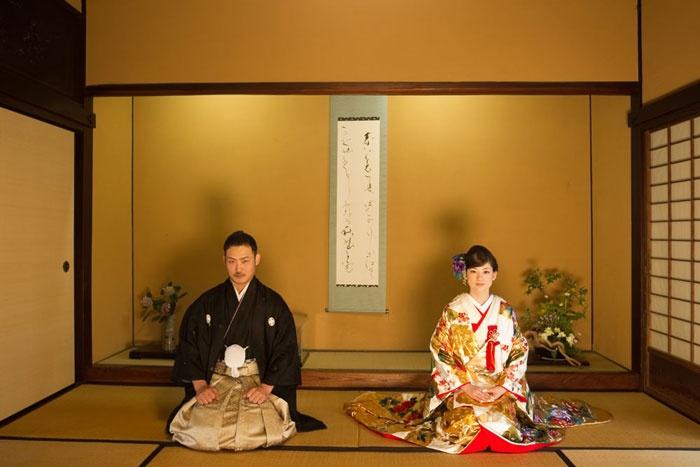 徳島県で結婚フォトの撮影。和装の邸宅ロケーションウェディング。