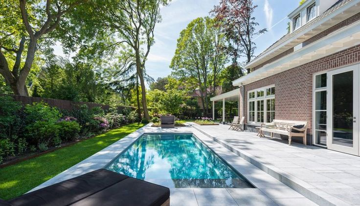 Compass Pools - Rechthoekig Zwembad Bij Woonhuis - Hoog ■ Exclusieve woon- en tuin inspiratie.