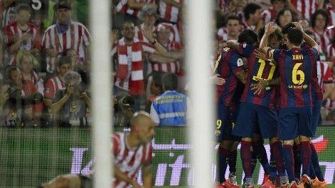 Messi es el Rey León. Tras la Liga de Messi, la Copa lleva también la firma del argentino. La Pulga guió al Barça a la conquista del segundo título de la temporada. El próximo sábado, en Berlín, espera el premio gordo: la Champions, que completaría un Triplete de ensueño.