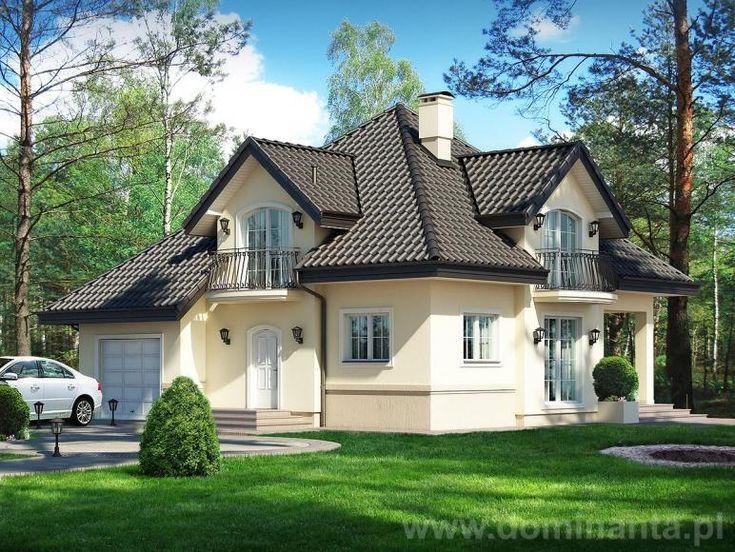 Popularny projekt domu Opałek, który doczekał się licznych realizacji w całej Polsce. Zaprojektowany przez pracownie http://www.dominanta.pl/