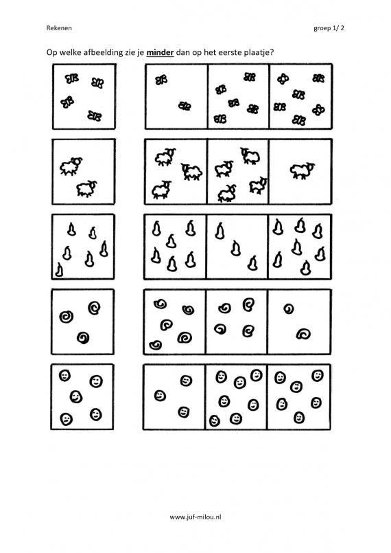 Citowerkbladen - rekenen - getallen ~ Juf Milou