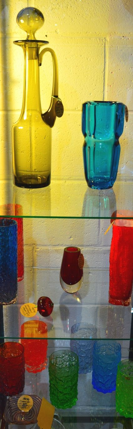 Check out all the great mid-century glassware available at all three Amazing Mill Markets venues. There are some stunning pieces on offer.