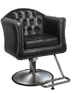 James Salon Styling Chair in Black