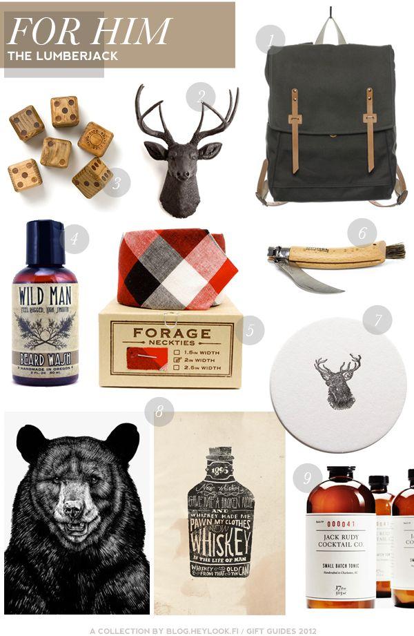 Lumberjack inspired gifts for the MR.