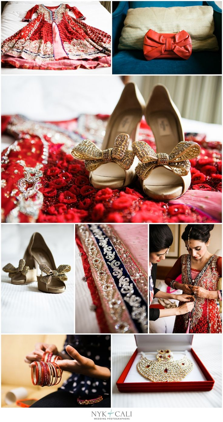 Nyk + Cali, Wedding Photographers | Nashville, TN | South Asian Wedding Photography | Pakistani | Shaadi | Celebration | Downtown Hilton Hotel | Hindu Ceremony | Red & Pink | Bride + Groom | Getting Ready | Creative Details