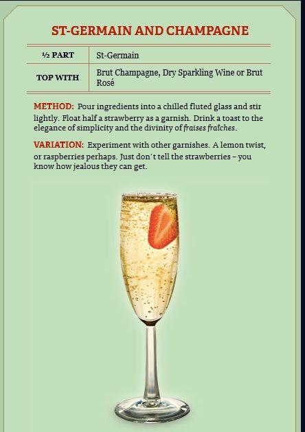 champagne et St Germain?