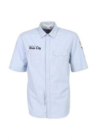 Легкая рубашка с коротким рукавом от бренда s.Oliver. Модель выполнена из качественного хлопкового материала голубого цвета. Детали: прямой крой, отложной воротник с пуговицей сзади, два нагрудных кармана, небольшая надпись спереди, сзади - вышивка и принт, рукава фиксируются хлястиком. http://j.mp/1pgeV5v