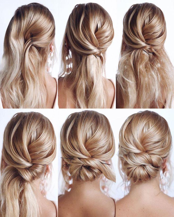 Feb 14, 2020 - Tutoriel Coiffures Homecoming magnifique et facile pour les cheveux longs - Hey-Cendrillon ... #cheveux #Coiffures #facile #HeyCendrillon #Homecoming #les #longs