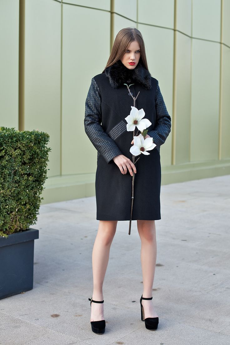 Palton negru/ black coat/ tinute office/ paltoane de iarna