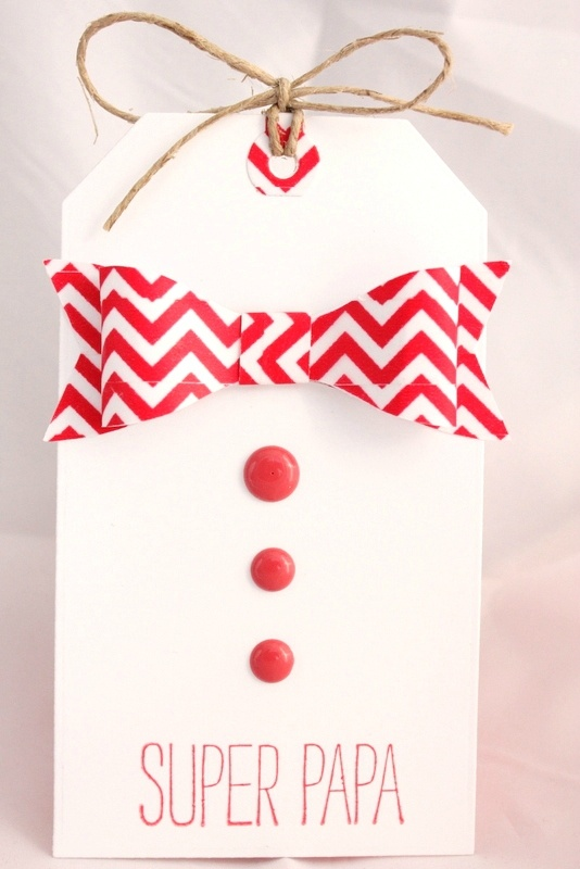 Mooi tasje gemaakt voor papa waar je je cadeautje in kan stoppen.