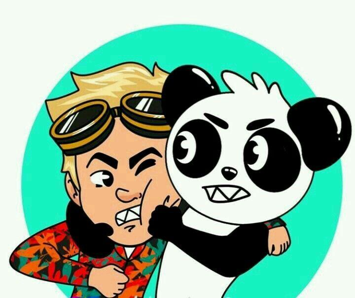 Nando Y Panda Peleando V Diseno De Personajes Adolescentes Foto En Dibujo Fondo De Pantalla De Buho