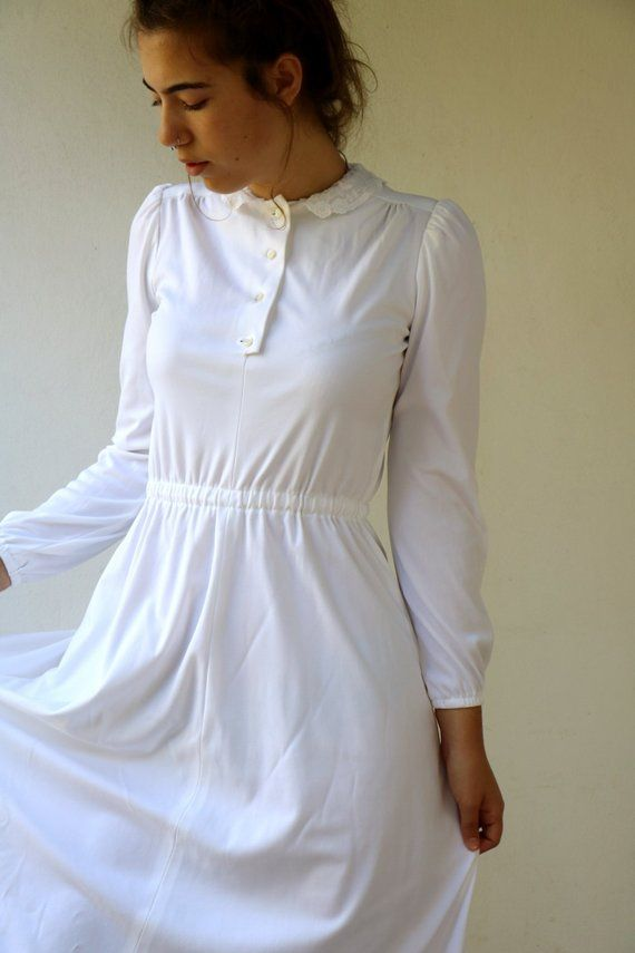 81830bb6bb3 Vintage White Maxi Dress