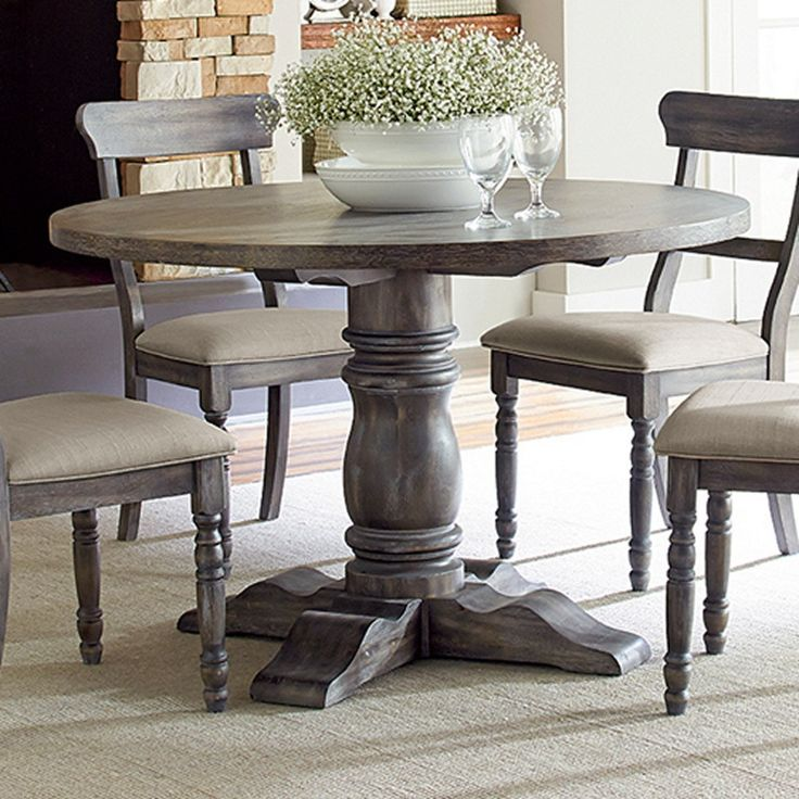 Rustic Round Dining Room Table 71 best dining tables images on pinterest | kitchen tables, round