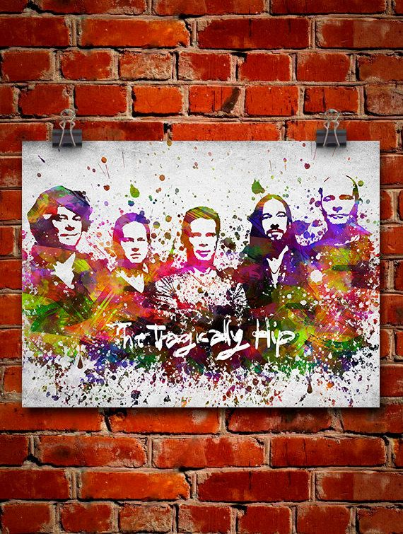 The Tragically Hip In Color Poster Home Decor Gift by Agedpixel