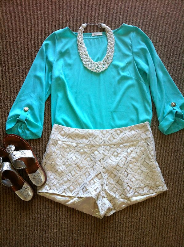 : Jack Rogers, Fashion, Style, Dream Closet, Color, Clothes, Summer Outfits, Jack O'Connell, Lace Shorts