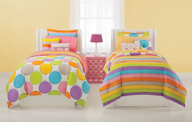 Spot on bedding colorful polka dot and striped reversible bedding spot on bring lusciously - Spots of color in the bedroom linens and throws ...