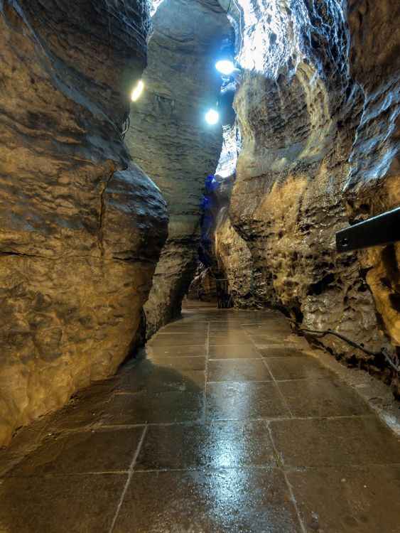 Blue John Cavern, in Buxton,just across the road from where my Auntie Margaret used to live.You can buy gorgeous jewellery there made out of Blue John of course....Buxton