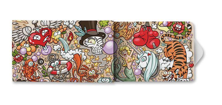 Mit gutem Gewissen visuell erfrischen!   #Allover heißt das Motiv von #Steffen Gumpert. In der dritten Serie der #Charitygums werden 12 neue #Designs präsentiert. Neue #Künstler gestalten die #Verpackung für unsere #veganen, #Zucker und #Aspartam freien #Kaugummis.  www.charitygums.de