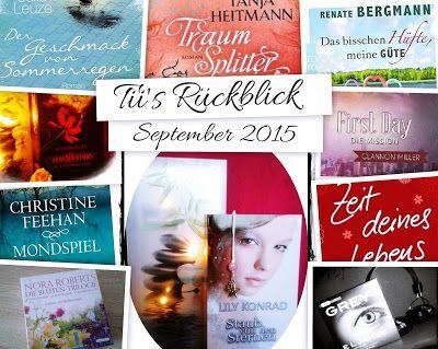 Tii und Jäis kleine Bücherwelt: Tii's Monatsrückblick September 2015