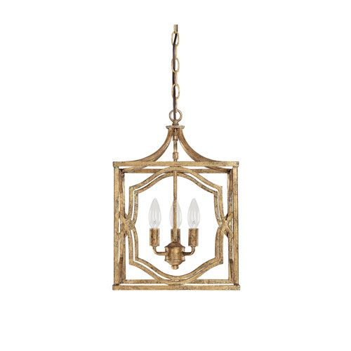 Antique Foyer Lighting Fixtures : Blakely antique gold three light foyer