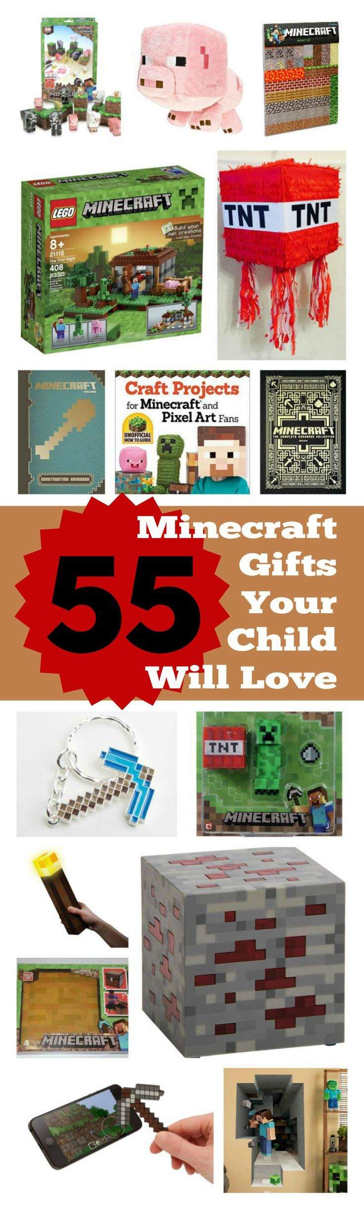 55 Minecraft Gifts in All Categories - Find the perfect gift for any child! An Extraordinary Minecraft Gift Guide!