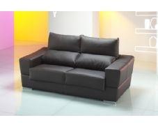 Le presentamos este sofisticado sofá de dos plazas, tapizado en piel de color oscuro, que dará a su hogar un gran toque de elegancia, además de proporcionarle la comodidad que usted necesita. No lo piense más¡