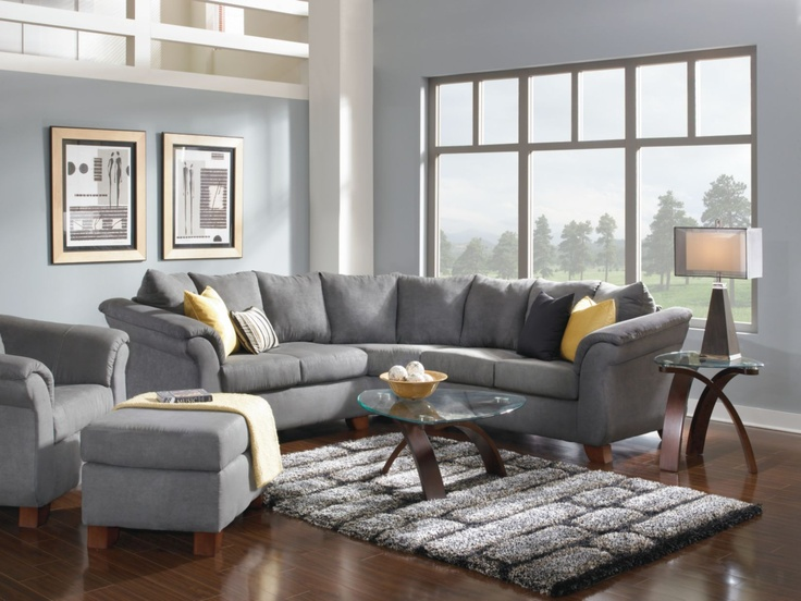 Adrian Graphite sectional couch. Value City ... : value city leather sectionals - Sectionals, Sofas & Couches