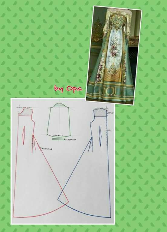 Long dress pattern 2