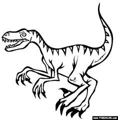 88 Best Coloring Pages Images On Pinterest Coloring Books Velociraptor Coloring Page
