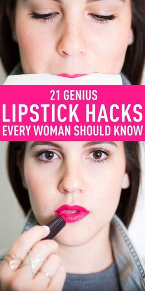 LIPSTICK HACKS AND IDEAS: Here's exactly how to use your lipstick so you get the most out of your favorite shades. Click through to learn how to exfoliate lips before applying lipstick, how to turn your lipstick into blush, how to make lipstick using eyeshadow or pigments, how to fix a broken lipstick, and more.