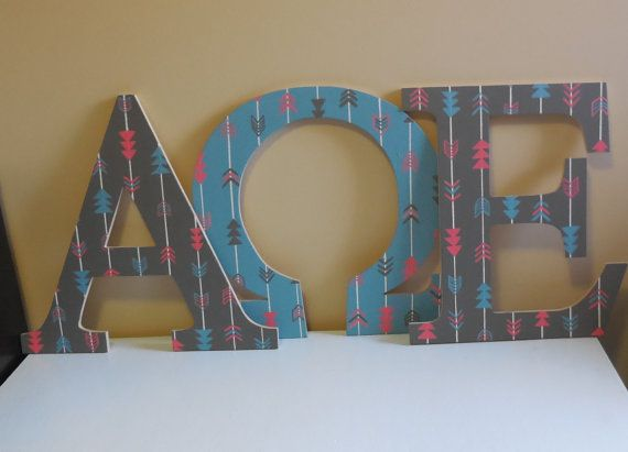 18 inch custom painted wooden greek letter by
