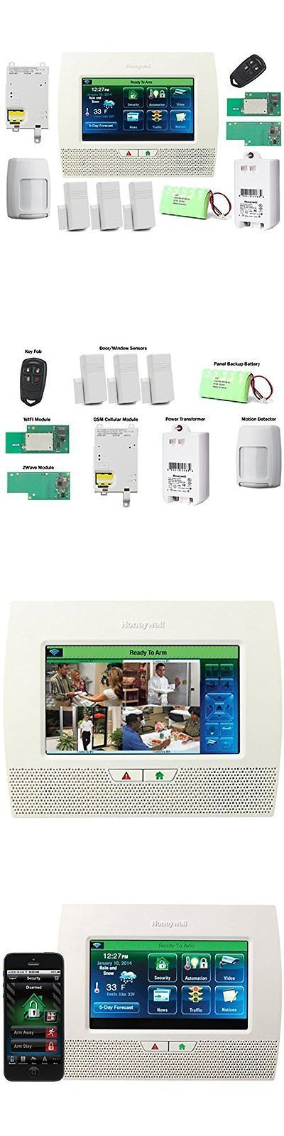 Security Systems 41969: Honeywell Wireless Home Security Systems Lynx Touch  L7000 Home Alarm Kit With