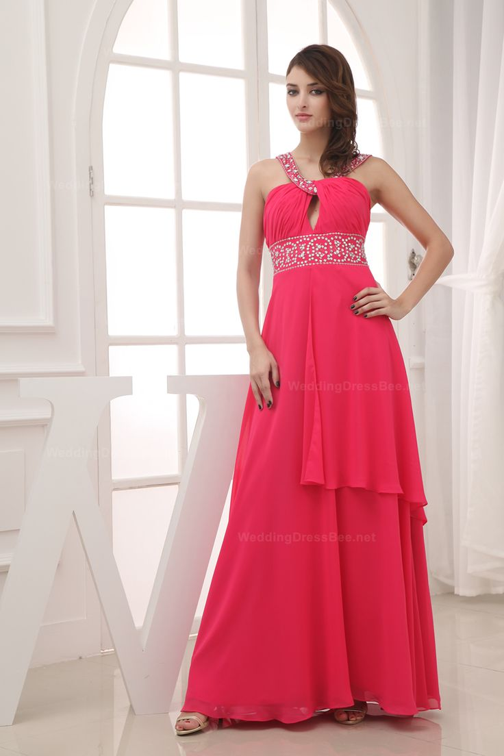 Straps v-neck floor length chiffon dress for ladies,US$139.98   Read More:     http://www.weddingscasual.com/index.php?r=straps-v-neck-floor-length-chiffon-dress-for-ladies.html