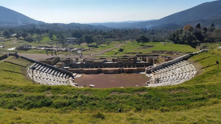 Ancient Messene - the theatre - panoramic view #ancientmessne #peloponnese #ancent #messene #greece #history #culture