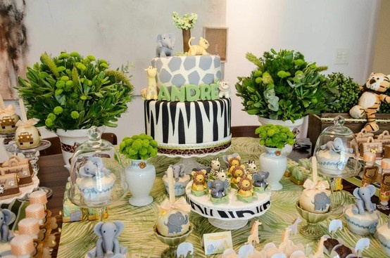 I Love Their Cake Jungle Themed Party. Find This Pin And More On Jungle Animal  Baby Shower ...